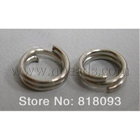 Iron JumpRings,  Double Loops,  Platinum Color-7mm,  0.7mm thick,  about 12000pcs/1000g