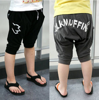 Free Shipping 100% Cotton Children Sport Shorts Boy Causal Summer Knee-Length Pants Trousers