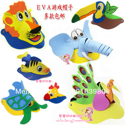 Eva animal three-dimensional hat cartoon mask performance props(China (Mainland))