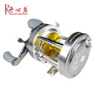 Fish kx50 metal fishing reel drum wheel lure wheel 5 1 shaft