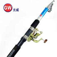 GUANGWEI 2.1 2.4 2.7 3 meters pole set fishing rod set fishing tackle set