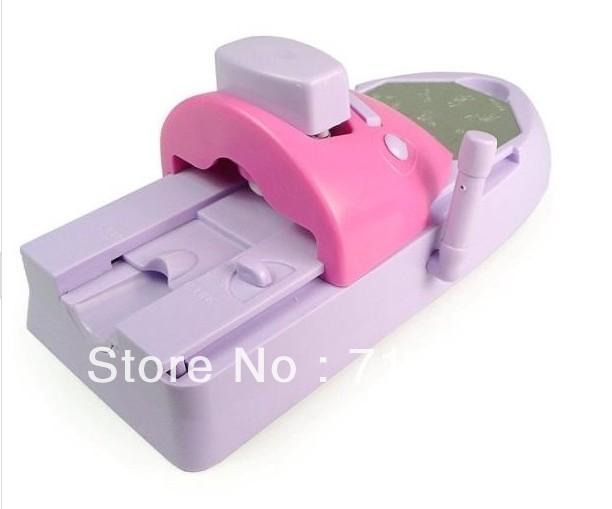 Free shipping Wholesale/Retail DIY Nail Art stamping printing machine Colors Drawing polish 7 color nail polish 6 painted design(China (Mainland))