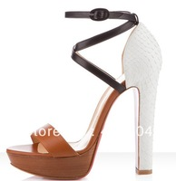 hot sale 2013 new genuine leather high heels, gorgeous sandals
