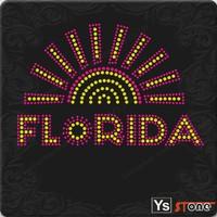 Custom Florida Rhinestone Applique Iron On Letters
