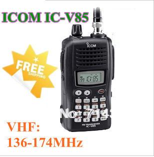 strong power 7 Watts VHF136-174MHz waterproof walkie talkie IC-V85 handheld two way radio ICV85 free shipping(China (Mainland))