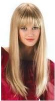 belle perruque long cheveux Blond WIG+cap