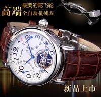 Dual calendar automatic mechanical watches, Swiss watches Mens Watch Tourbillon hollow belt butterfly buckle men's watches
