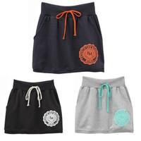 New 2013 Korean printing package hip skirts dress sport cotton skirt in spring