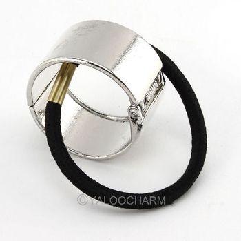 5pcs fashion Punk Gothic Silver Metal Hair Cuff Wrap Ponytail Clip Tie Holder Band 60299