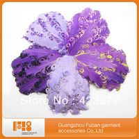 free shipping for wholesale curly nagorie goose feather pads for headband