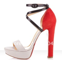 2013 new genuine leather high heels, gorgeous sandals