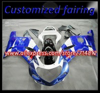 EMS Free ABS plastic Fairings for GSXR600 750 K1 01 02 03 GSXR600 750 2001 2002 2003+ gift