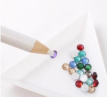 20pcs Nail Art White Rhinestones Gems Picking Up Design Painter Bead Pencil PEN