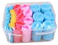 Free Shipping 27pcs/set Sponge hair roll set pear big wave hair curly hair roller hair tools
