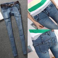 2013 blue jeans slim skinny pants pencil pants butt-lifting