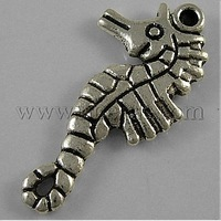 Closeout Tibetan Style Pendants,  Lead Free & Cadmium Free & Nickel Free,  Antique Silver Color,  33.5mm long,  17.5mm wide