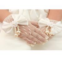 Flower girl formal dress child wedding formal dress princess dress female child costume accessories gentlewomen gloves