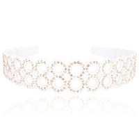 Cutout 8 full rhinestone hair bands hair accessory headband