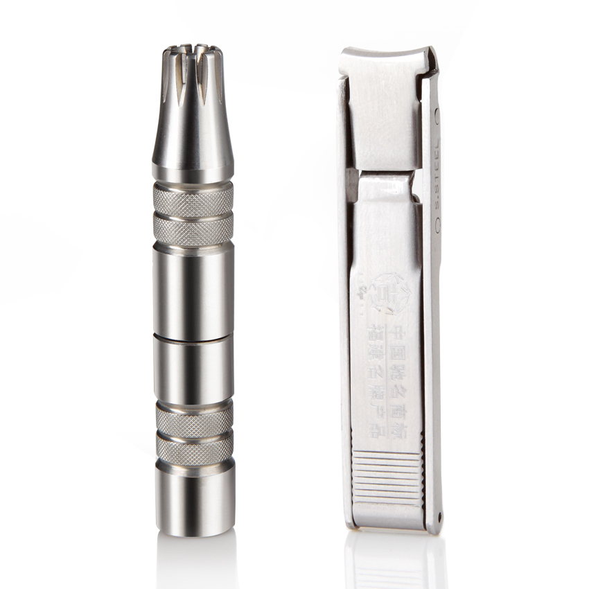 nose hair trimmer + ultra-thin stainless steel nail clippers(China (Mainland))