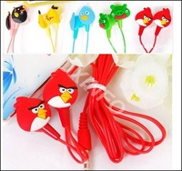Cute Cartoon bird Style In-Ear stereo  Earphone With Retail Package  for Mp3 Mp4 cellphone   10PCS