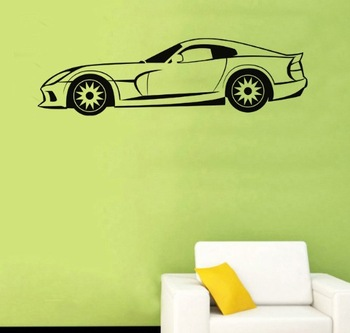 Free shipping !!Viper_car Wall Tattoo  Wallpaper Wall Decals Vinyl wall decoration sticker  N-339