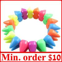 [ MIN.MIX ORDER $10 ] Colourful Spike Rivets Bracelets