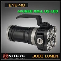 FREE EMS/DHL, Niteye EYE40 4xCree XM-L U2 4-Mode LED Waterproof Outdoor 4x 18650 Power Indicate Flashlight Hiking Camping Torch