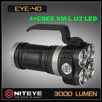 FREE EMS/DHL, Niteye EYE40 4xCree XM-L U2 4-Mode LED Waterproof Outdoor 4x 18650 Power Indicate Flashlight Hiking Camping Torch