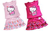 Комплект одежды для девочек 2013 new arrived, children clothes, 5set/1lot Girls fashion set for summe short sleeve t-shirt+pants suits children clothing