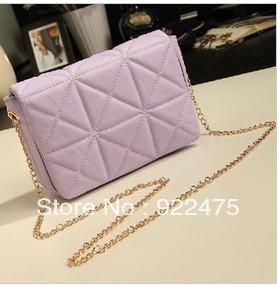 free shipping,2013 new arrival fashion lady pu leather handbag,women vintage plaid chain bag shoulder bags,cb282