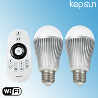 New  7W E27 color temperature and brightness adjustable led bulb with remote