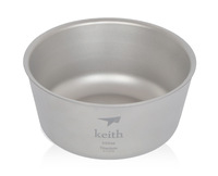 New Keith Double titanium bowl Camping Bowl 550ml 114g KT322