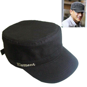 Male hat black cool autumn cadet military cap hat truck cap