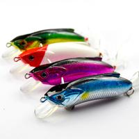 Free shipping, 10pcs/lot, 13.6g/8cm fishing tackle minnow lure set slot feather hook