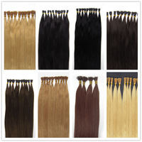 "18""(45cm) Pre-bonded I-tips Stick tip Remy Human Hair Extensions Fasion Hair 100s 0.5g 11 Color To Choose"