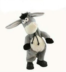 Free shipping,Electronic pet donkey, can dance sing shook his head electric donkey, rock donkey, children funny toy(China (Mainland))
