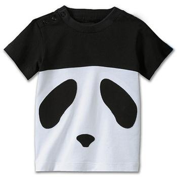 2013 cute design kids panda face t-shirt boys cartoon summer t shirt tops wholesale 5pcs/lot