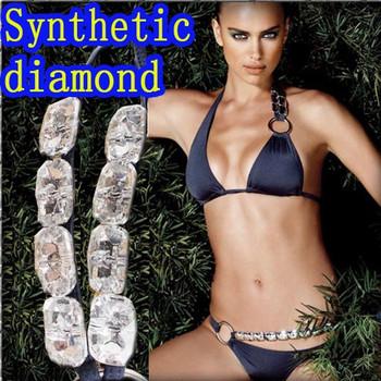 Synthetic diamond bikini swimsuit swimming suit on sale for women swimware swimwear Summer Beach sets Free Shipping W5025
