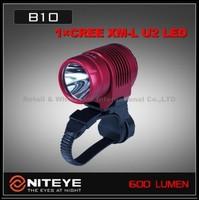 Niteye B10 CREE XM-L U2 LED Bicycle Light - 600 Lumens Torch-Red