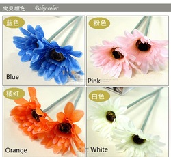 EMS Free Shipping Home Hotel Decorative Flower Bouquet Daisy Flowers 200pcs/lot(China (Mainland))