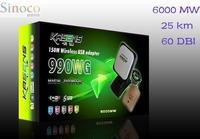 Original High Quality Kasens 990WG 60DBI Panel Antenna 150M Wireless Netword WLAN Card Usb Wifi 25 km