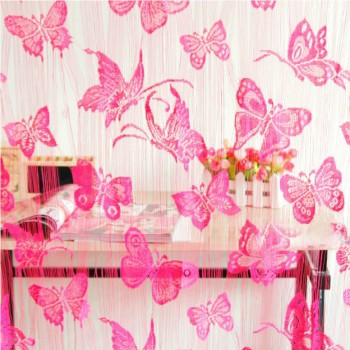 High-grade Korean romantic butterfly encrypted partition porch decoration line shade curtain,more color to choose ,Free Shipping(China (Mainland))