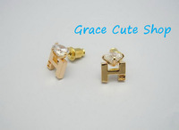 Stud Earrings Famous Branded Logo Jewelry Free Shipping High Quality Gift Package (Dust Bag,Gift Box)#HR07