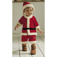 Christmas wearing two sets Red long sleeves baby romper+hat Christmas gifts Merry Christmas Your baby loves