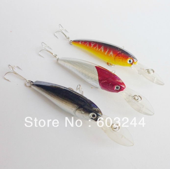 Free Hong Kong Post 21pcs (3 Designs mixed) Professional Fishing Lures 90mm Minnow 8g Fish Lure Baits Tackle Hook(China (Mainland))