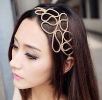 Min.order is $10 (mix order) FASHION cross hair band hair rope hair jewelry Nice Headdress ! !  Free shipping H3042
