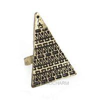 1pcs fashion Retro Antique Silver Bronze Punk Rock Gothic Mask Skull Rose Wing Exclusive love magic triangle ring 60340,60341