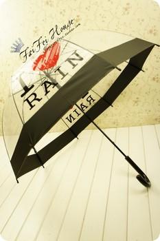 Arch umbrella rain automatic arched long-handled umbrella transparent umbrella princess umbrella