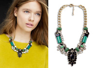 Most popular jewelry Fashion luxurious created stone banquet cocktail party short necklace free shipping