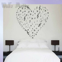 Free shipping  Wall sticker Musical notes wall stickers violin Home Decor Fashion Mural Decal Art music Wall decor Decoration